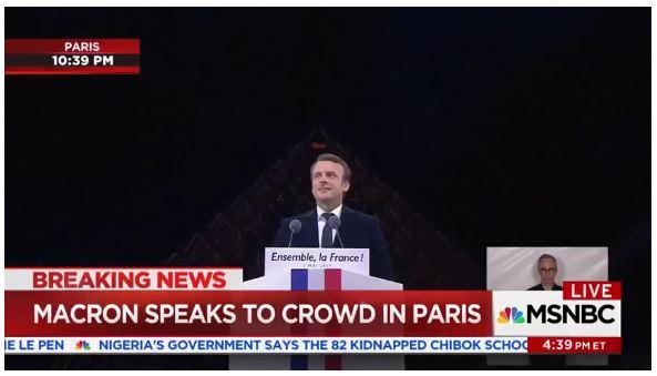 Macron victory speech_Louvre_2017