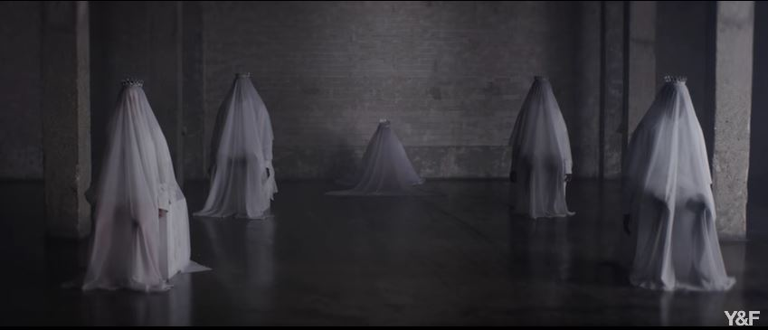 Peace music video - white veiled men - 3 28 18