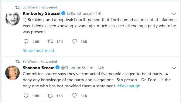 Allegation tweets
